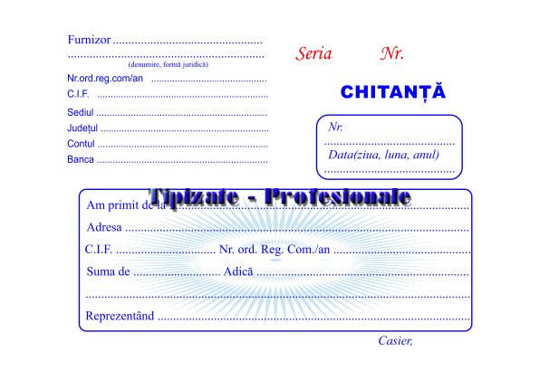 Chitantier A6 - 3 exemplare